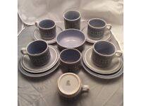 Hornsea Tapestry tea set. Real Retro. lovely condition
