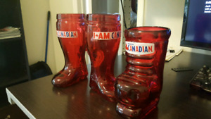 Canadian boot beer glasses
