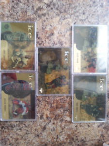 Rookie and gold Hockey cards