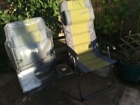 2 x garden or camping chairs