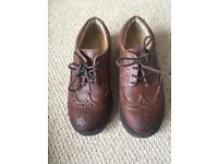 M&S Kids brown brogues - size 10