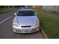 Hyundai Coupe 2.0L 2005 5 speed manual with MOT till Feb 2018 at 74k miles