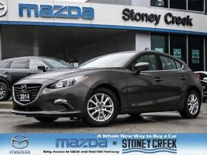 2014 Mazda MAZDA3 SPORT GS SPORT AUTO,.65% FIN,LOW KMS,1 OWNER,A