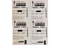 4x Tickets to THORPE PARK for 26th July 2017 (26/07/2017) ACTUAL TICKETS - SUMMER HOLIDAYS!!!