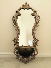 Mirror ornate heavy antique stunning wall hanging