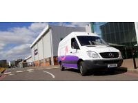 Starting Bonus Scheme – Large Van Courier Deliveries in our Purple Pink and White van