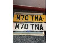 Private number plate M70 TNA