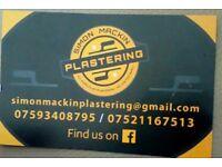 Plasterer. Simon mackin plastering