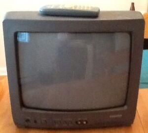 """13"""" TOSHIBA colour TV with remote $25.  Great picture quality!"""