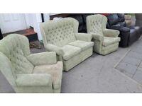 FABRIC SOFA SET 2 seater + 2 Armchairs Like New