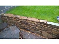 Free York stone for garden walls etc