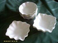 White china dishes