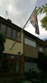 Flag pole and Union Jack