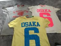 3x Men's Superdry Tshirts large