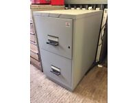 Chubb fire proof 2 drawer filing cabinet