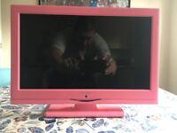 Alba 16 Inch HD Ready LED TV/DVD Combi - Pink