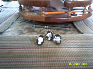 Cuff Links Vintage Pieces Great Shape. Three Sets