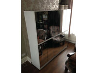 5 White double Mirrored cupboard