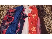 Job lot of 7 vintage dresses retro festival wholesale size Medium