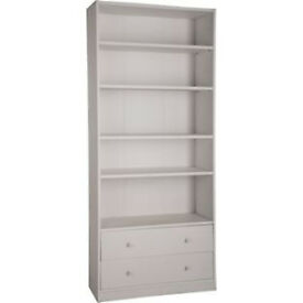 Maine Extra Deep Bookcase - Putty