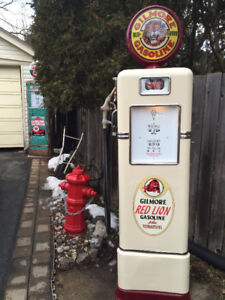 GAS PUMP; Shell, RED INDIAN, White Rose, TEXACO, SUPERTEST,