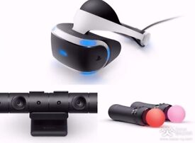 Ps Vr + camera, 2x joysticks, Game:Riggs