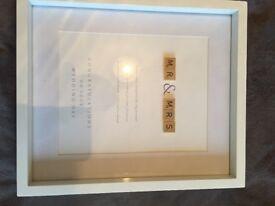 Scrabble Mr & Mrs Wedding Frame - £15.00