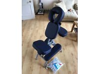 Portable massage chair with carry case