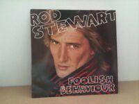 Rod Stewart vinyl LP - Foolish Behaviour