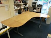 2 Types of Corner office desks - Very good condition, ideal for offices or home.