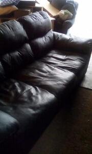 Black Leather Couch fo sale