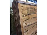 🛠New Brown Wayneylap Fence Panels < New > Pressure Treated