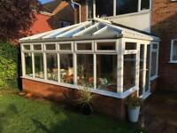 Conservatory 5m x 3.75m - Glass Roof, Double Doors & Blinds