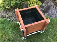 Handmade Industrial Style Large Raised Garden Planter With Galvanised Tube Stand