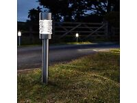 solar garden lights (solar marker stainless steel) brand new