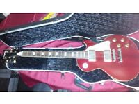 Westfield les paul copy guitar and hard case. Line 6 head,VBboard and 4 fender speaker Cab