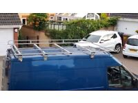 Ford Transit MWB Medium Roof Full platform roof rack with roller Maxus Aero-Tech.