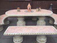 Concrete Table Terricotta