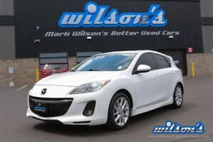 2012 Mazda MAZDA3 GT HATCHBACK! LEATHER! SUNROOF! HEATED SEATS!