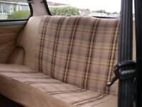 classic mini complete set front and rear seats with door cards