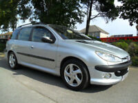 PEUGEOT 206 2.0 HDi 2002 ESTATE COMPLETE WITH M.O.T HPI CLEAR INC WARRANTY