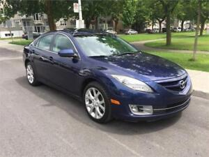 2010 MAZDA 6 , AUTOMATIQUE, 4 CYLINDRE , SIEGES CUIR, TOIT OUVRA