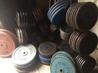 """IRON Weights 1""""plates £1 FOR 1KG Gym equipment"""