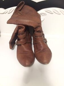 Brown's slouchy leather boots