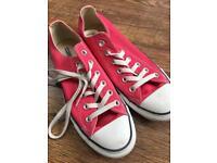 Pink Converse (size 6)