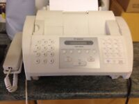 Cannon Fax with handset complete with mains and telephone leads. Copy facility.