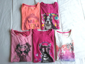 Girl's cotton graphic tees, sizes 10/12 and 14/16