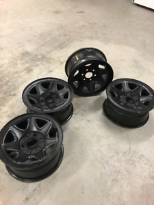 """17"""" Tires and rims from sierra 1500 pickup truck with sensors"""