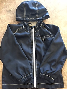 Excellent Condition Boys Lined Water Resistant Fall Coat; Size 5