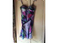 Size10 multi coloured dress with jewel encrusted detail by Star by Julien MacDonald RRP £110